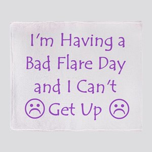 Having a Bad Flare Day Throw Blanket